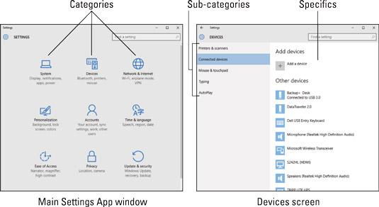 The Windows 10 Settings app.