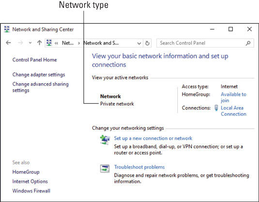 The network connection type revealed.
