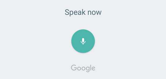 Google's Voice Search on the Galaxy Tab S2 Nook.