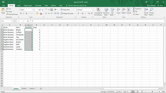 Simple Statistics in Excel Data Analysis - dummies