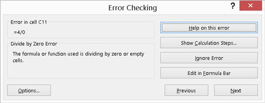 Checking for errors.