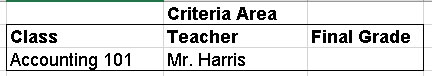 Finding records that match two criteria.