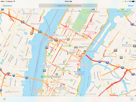 Lower Manhattan at 10:21 on a weekday morning has more traffic than most other cities at the peak o
