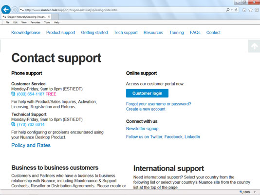 Go to the Customer Login button on the Tech Support page to create your free account.