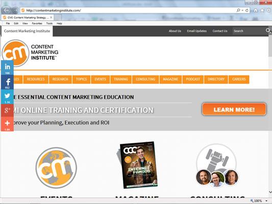 Content Marketing Institute.
