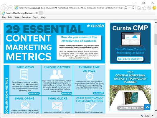 The Content Marketing Metrics infographic.
