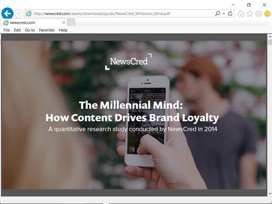 The NewsCred Millennial study.