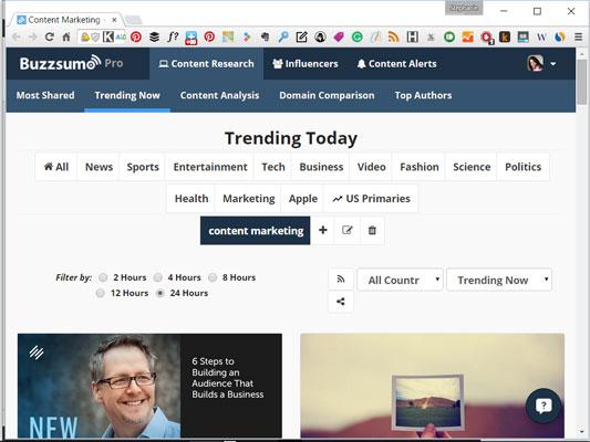 BuzzSumo Trends
