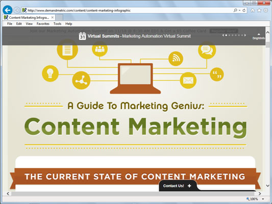 Demand Metric Infographic website.