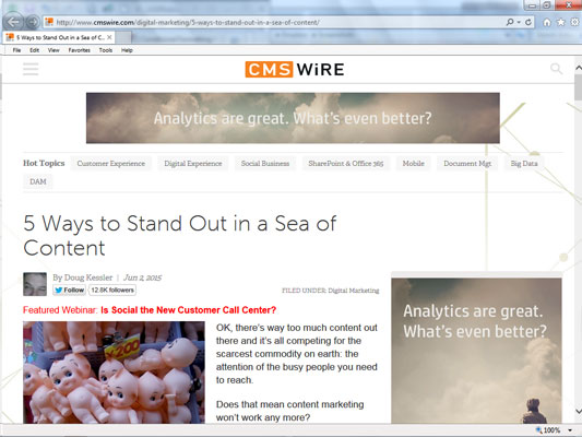 CMS Wire web page.