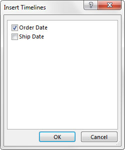 Select the date fields for which you want slicers created.