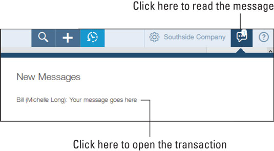 When messages exist, the Conversation button displays the number of waiting messages.