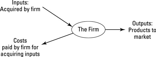The microeconomist's view of a firm.