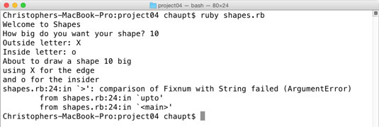 Ruby isn't sure how to use strings for numbers.