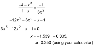 Use the slope equation to find the points of normalcy for a function.