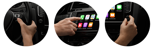 There are multiple options for controlling Apple CarPlay. [Credit: Image courtesy of Apple.com]