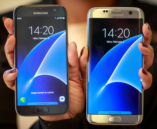 The Samsung Galaxy S7 and S7 Edge remain waterproof and provide a stunningly clear display. [Credit