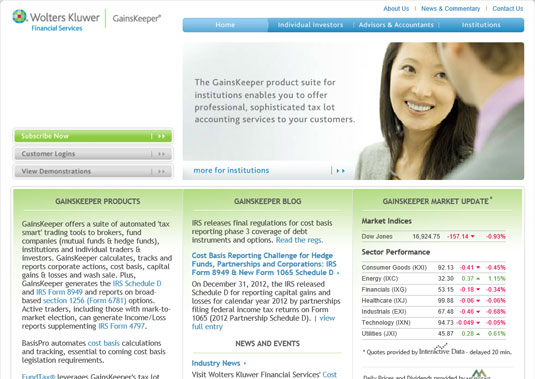 GainsKeeper is a dedicated website that helps you find ways to optimize your tax strategy when it c