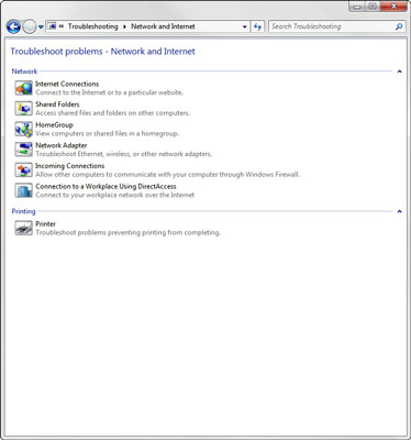 The Windows 8 Networking Troubleshooter.