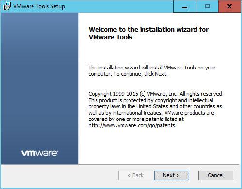 Installing VMware Tools.