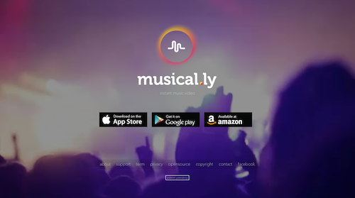 The Musical.ly application is available on the App Store, Google Play, and Amazon Marketplace. [Cre
