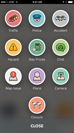 Report what you see to keep other Wazers informed.