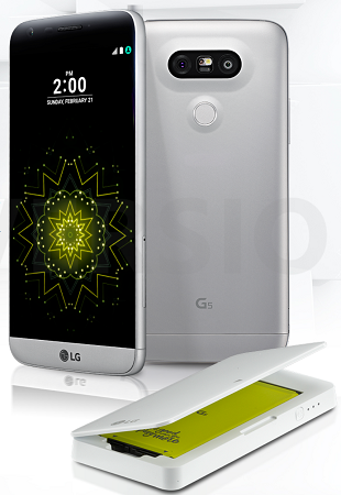 The sleek new LG G5 is taking the first steps toward customizable hardware. [Credit: Image courtesy