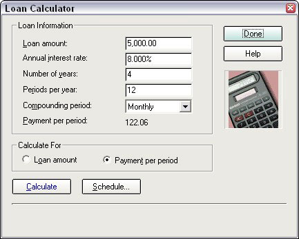 How To Use QuickenS Loan Calculator  Dummies