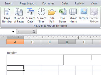 how to add header in excel 2007