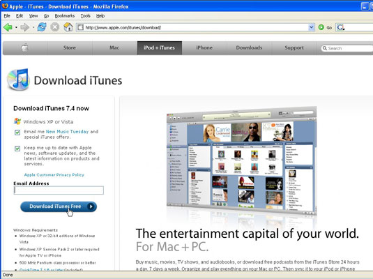 Install iTunes on a Windows PC - dummies
