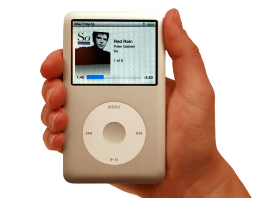View the sixth-generation iPod classic model.