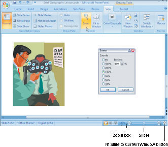 How to Zoom In and Out in a PowerPoint 2007 Slide - dummies