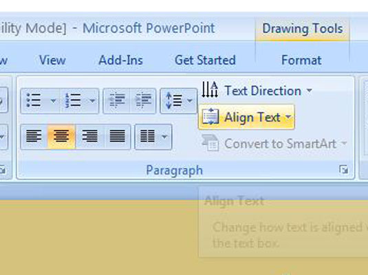 Line Up Objects on Your PowerPoint 2007 Slide - dummies