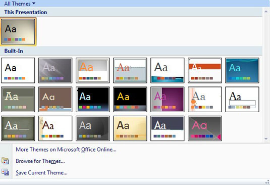 The PowerPoint Theme Gallery