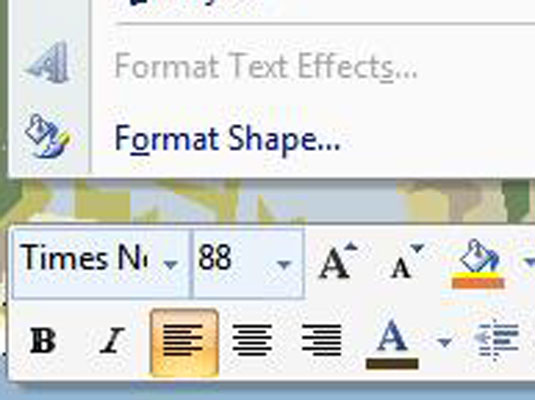 How to Apply Bold, Italics, or Underlines to PowerPoint 2007