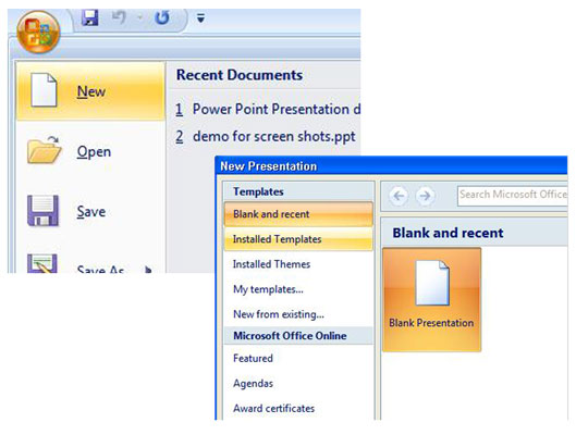 How To Create A New Powerpoint 2007 Presentation From A Template