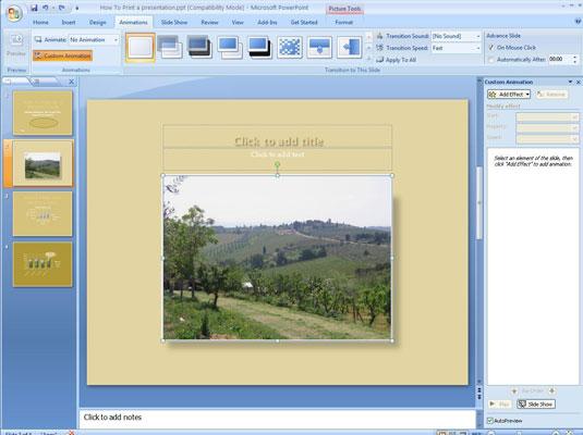 how to use ms powerpoint 2007 custom animation youtube
