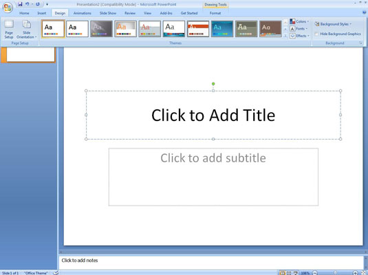 powerpoint presentation on ms word 2007