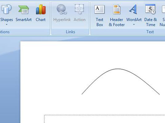 How to Draw a Curved Line on Your PowerPoint 2007 Slide - dummies