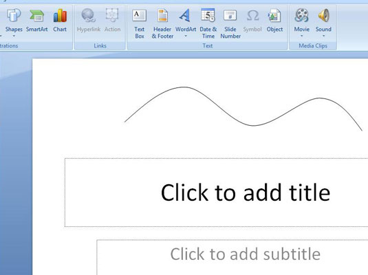 How To Draw A Curved Line On Your Powerpoint 2007 Slide Dummies