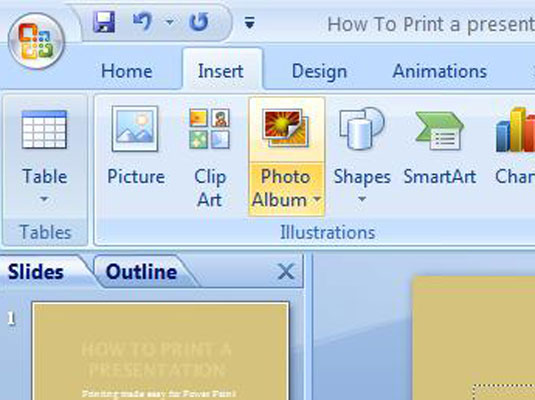 how to add captions to pictures in your powerpoint 2007