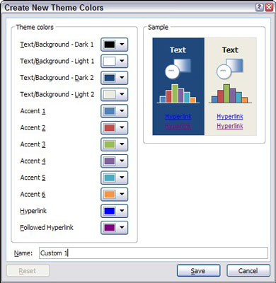 How to create a color scheme in powerpoint dummies 3click the theme colors button and then choose create new theme colors toneelgroepblik Gallery