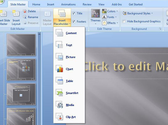 How To Add New Layouts To The Powerpoint 2007 Slide Master