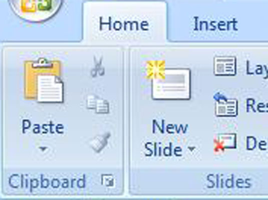 use cut copy and paste in powerpoint 2007 dummies