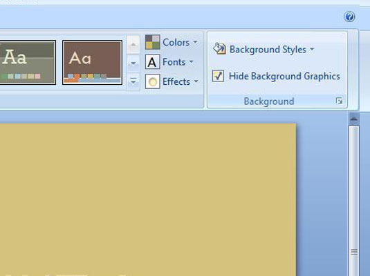 how to change slide background color key shortcut powerpoint