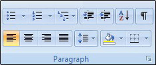 Paragraph formatting commands on the Home tab.