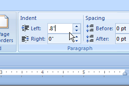 how to change word 2007 margin cm to inches