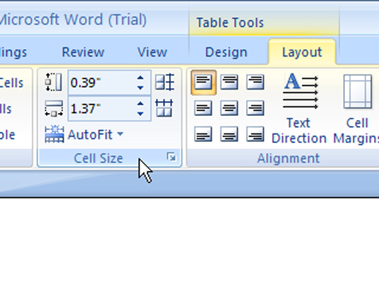 image1.jpg  sc 1 st  Dummies.com & How to Adjust Column and Row Size in a Word 2007 Table - dummies