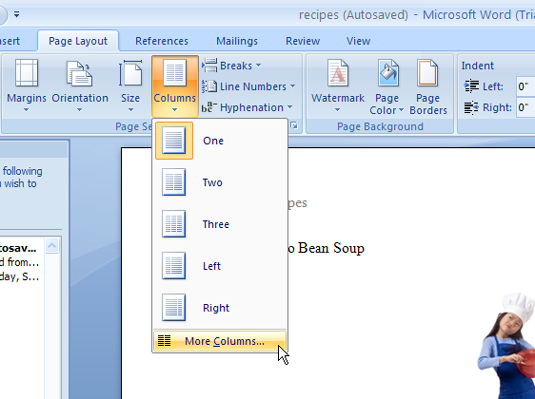 How to set background picture in ms word 2007