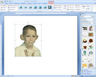 An open image in a Word document.